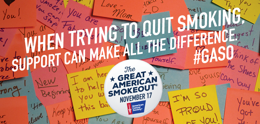 November 16 is the Great American Smokeout!